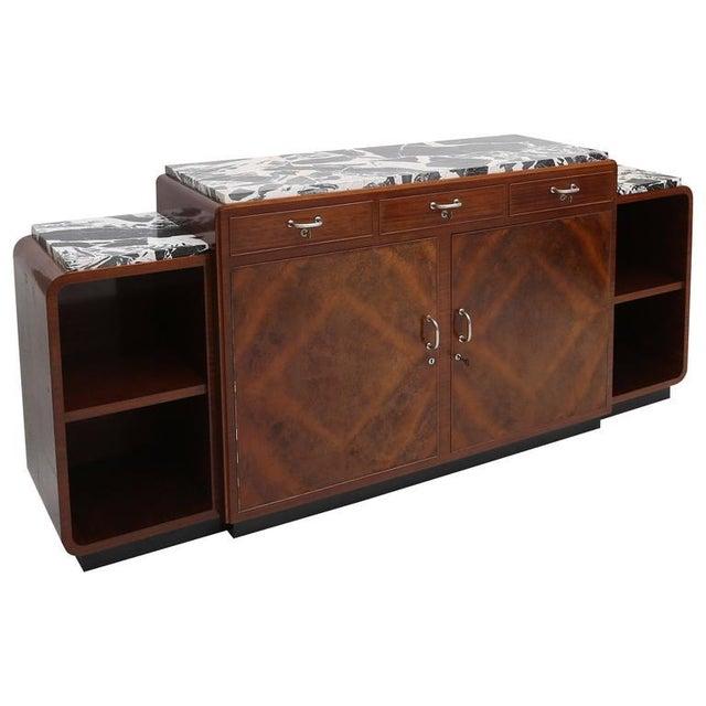 Brown Art Deco Credenza Van Beerleire For Sale - Image 8 of 8