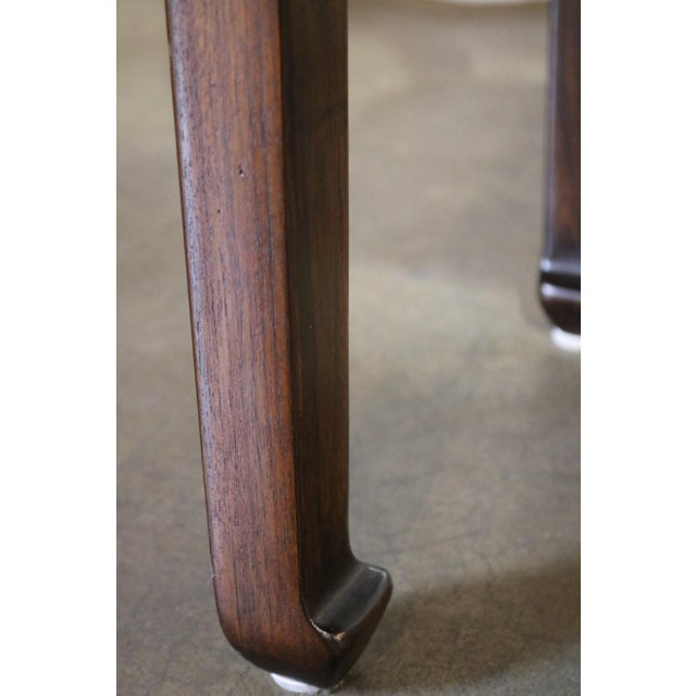 Chinese Elm Wood Side Table With Shelf - a Pair For Sale - Image 4 of 6