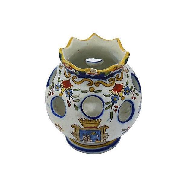 Antique French Faience Potpourri Pot - Image 5 of 5