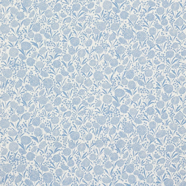 Contemporary Sample - Schumacher Chrysanthemum Wallpaper in Chambray For Sale - Image 3 of 5