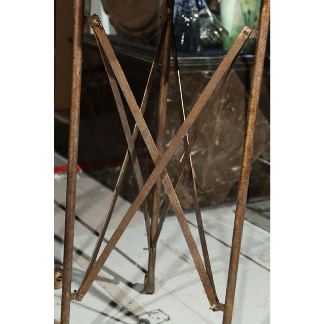 Mirror Top Metal Stand For Sale - Image 4 of 6