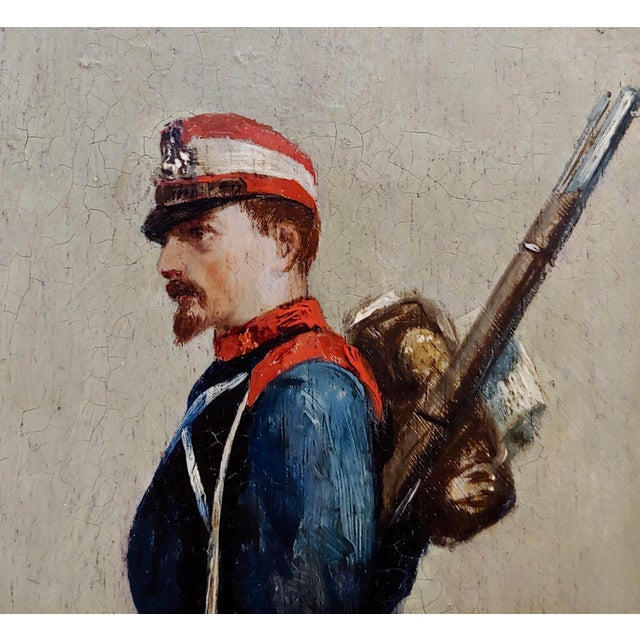 19th Century Edouard Jean Baptiste Detaille -Napoleonic Soldier -Oil Painting C.1870s For Sale - Image 5 of 11