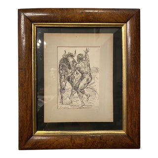 Original Ink Drawing on Paper by Charles Burdick For Sale
