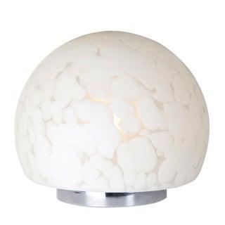 1970S MURANO MOTTLED-GLASS ORB TABLE LAMP