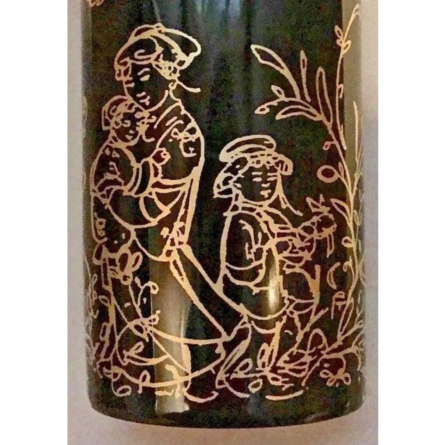 "Black Edna Hibel Rosenthal ""Festival Annual"" Golden Vase For Sale - Image 8 of 13"