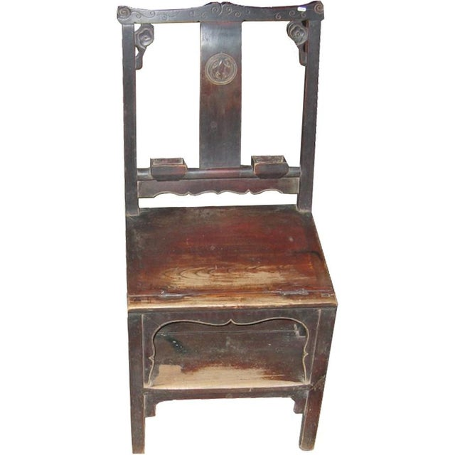 Asian Antique Chinese Ladder Chair For Sale - Image 3 of 3