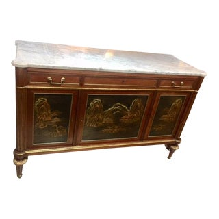 1900's French White Marble Top Commode For Sale