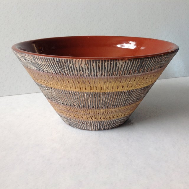 Aldo Londi Bitossi Black And Gold Pottery Bowl - Image 4 of 11