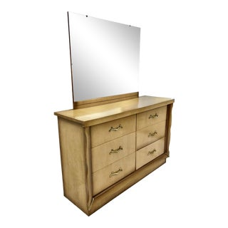 Vintage Mid Century Dresser With Mirror For Sale