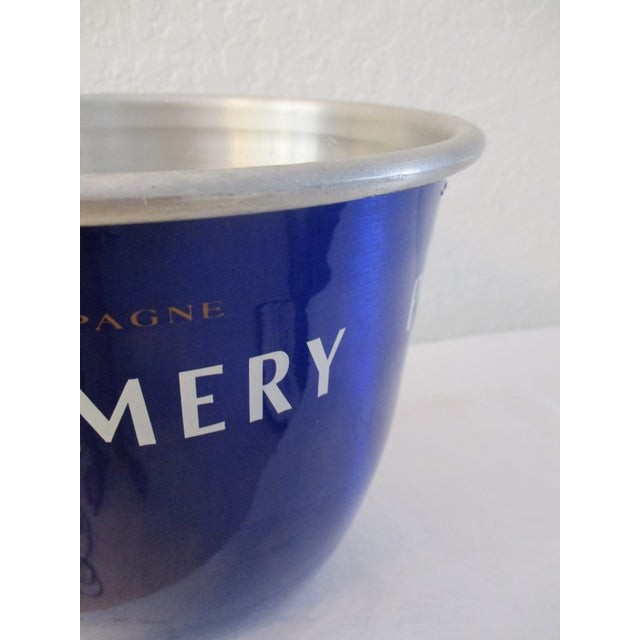 French Pommery Cobalt Blue Wine Chiller For Sale - Image 4 of 6
