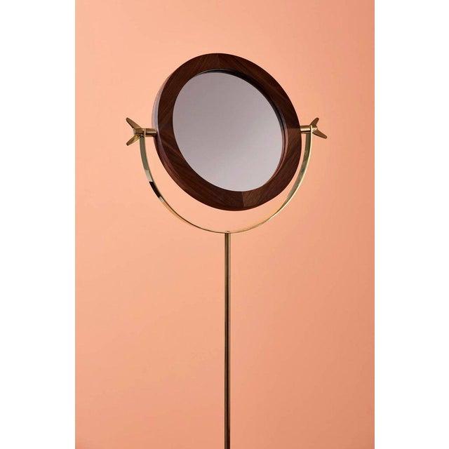 Carl Auböck Carl Auböck #4959 Floor Mirror For Sale - Image 4 of 5