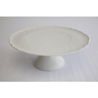 Dresden White Scalloped Porcelain Cake Stand Preview