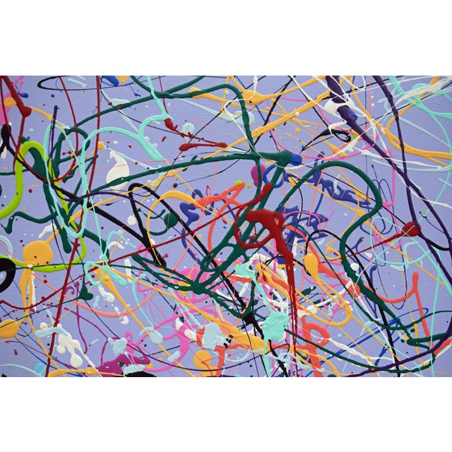 Large Contemporary Abstract Expressionist Acrylic Painting by Michael Karr For Sale In New York - Image 6 of 8