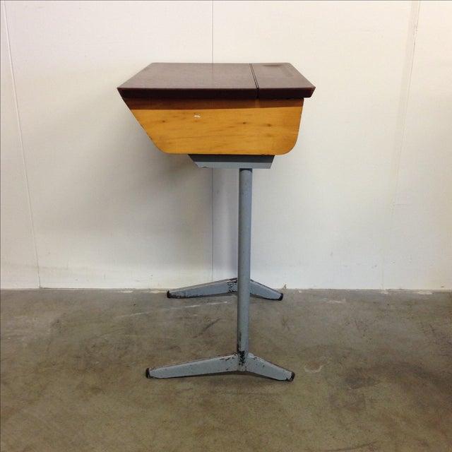 Vintage 1960s Children's School Desk For Sale - Image 4 of 7