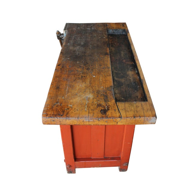 Industrial Red Workbench - Image 3 of 3