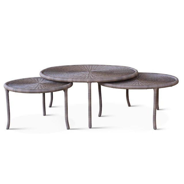 Contemporary Small Outdoor Lily Pad Table For Sale - Image 3 of 3