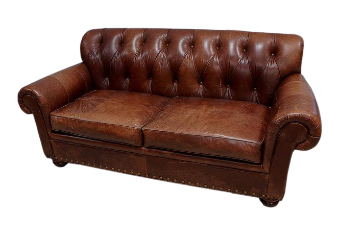 Attrayant Woodmark Leather Tufted Sofa