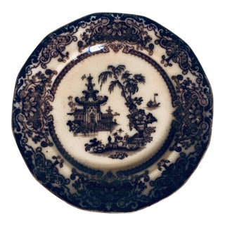 "19th Century Podmore & Walker ""Corean"" Pattern Mulberry Plate For Sale"