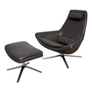 B&B Italia Metropolitan Chair & Ottoman, 2 Pieces For Sale