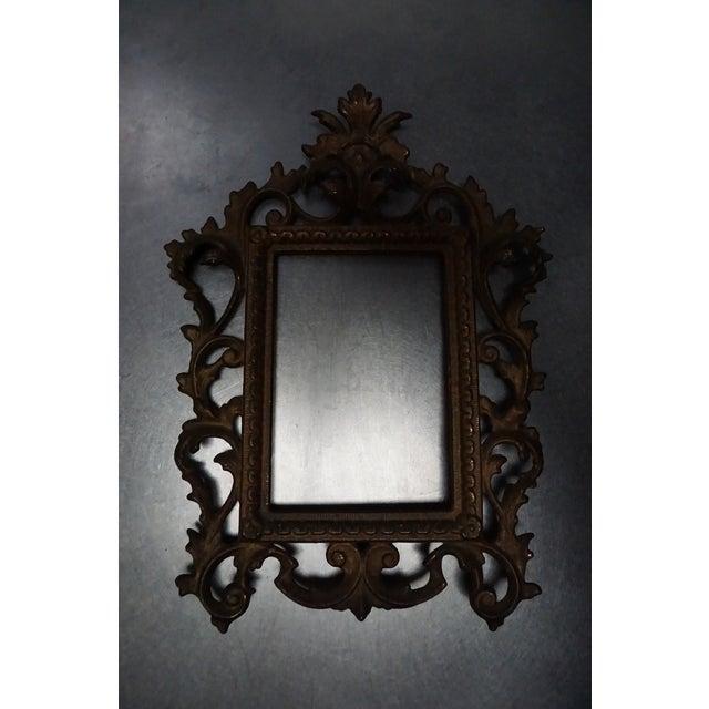 Antique Gold Scrolled Metal Frame - Image 3 of 3