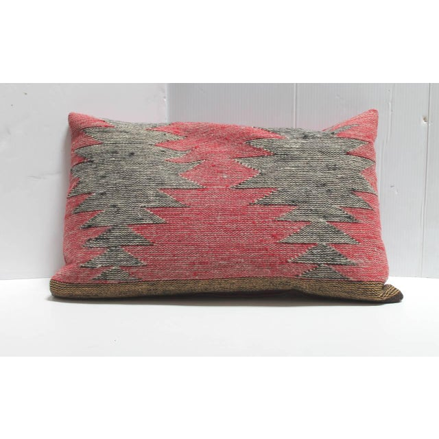 1930s Group of Three Navajo Indian Weaving Bolster Pillows For Sale - Image 5 of 5