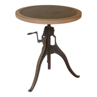 19th Century Industrial Mechanical Side Table For Sale