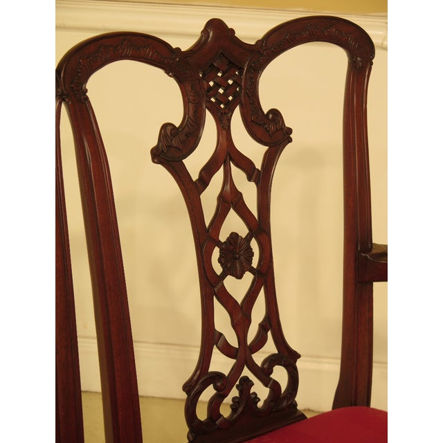 1990s Chippendale Mahogany Settee Bench For Sale - Image 5 of 11