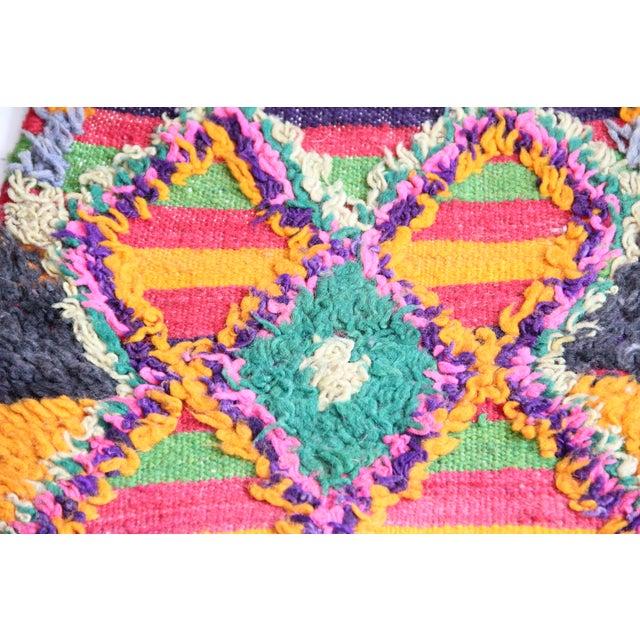 "Vintage Moroccan Carpet - 1'2"" x 3'6"" For Sale - Image 4 of 6"