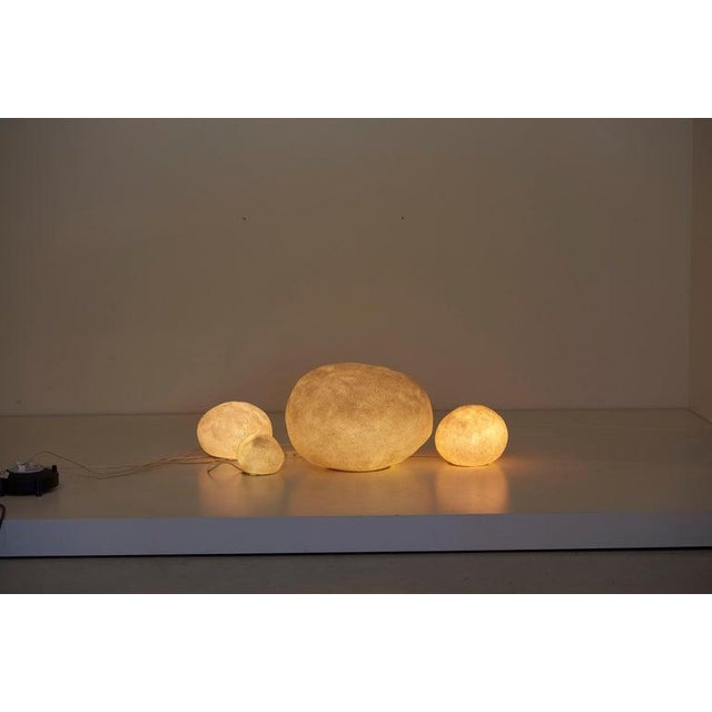 Set of Four Dorra Stone Rock Shaped Lamps by André Cazenave for Atelier A, 1960s For Sale - Image 10 of 13