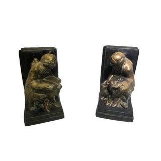 Femme Et Homme Médiéval Bookends - a Pair For Sale