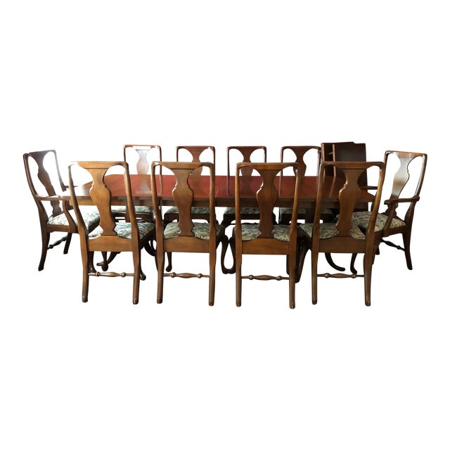 Craftique Solid Mahogany Dining Set For Sale
