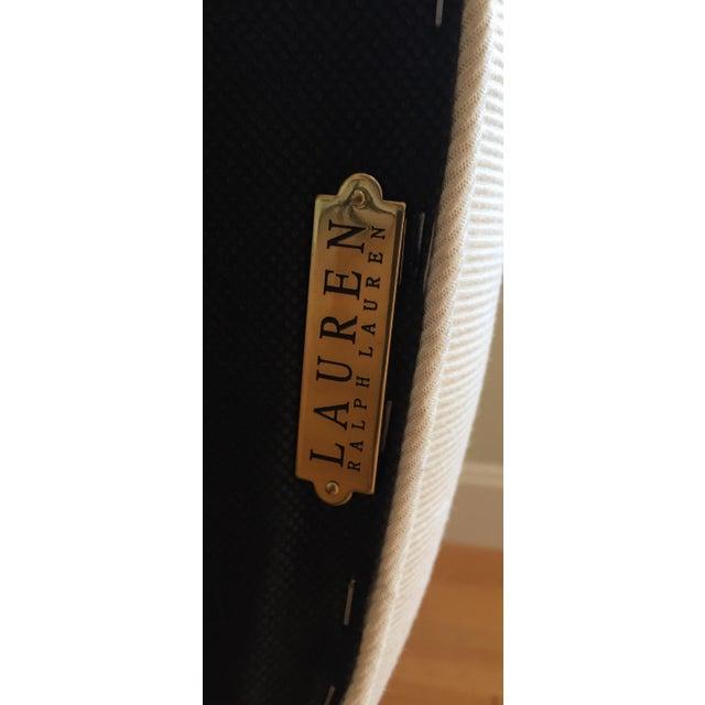 Ralph Lauren Black & White Accent Chair - Image 5 of 8