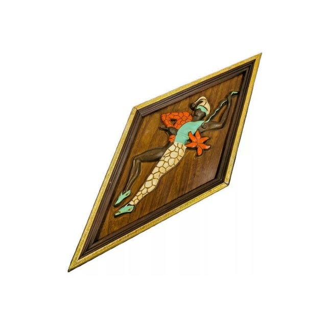 For your consideration is this amazing set of Harlequin Wall Art pieces produced by Turner Manufacturing Company during...