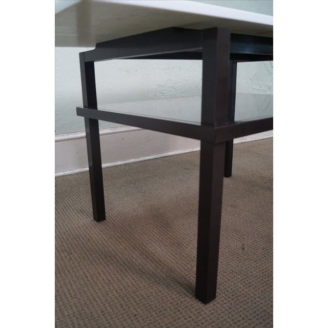 Mid Century Lacquer Base Console Table For Sale - Image 5 of 10