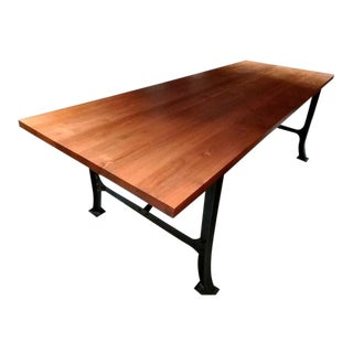 Room NYC Solid Wood Walnut & Iron Conference Table