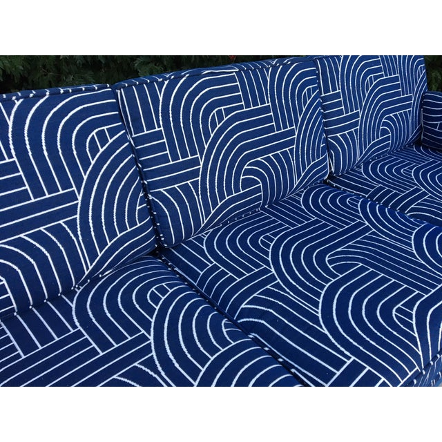 Rattan Mid Century Tuxedo Sofa - Image 5 of 8
