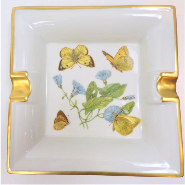Vintage Hermes Style Butterfly Ashtray With Suede Bottom For Sale - Image 11 of 13