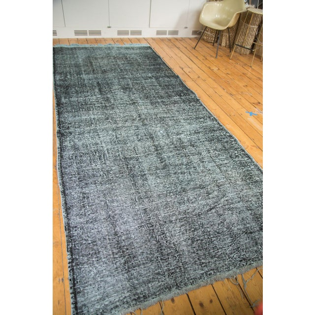 "Vintage Overdyed Gallery Rug Runner - 4'11""x11'10"" - Image 3 of 9"