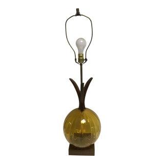 Mid-Century Amber Table Lamp