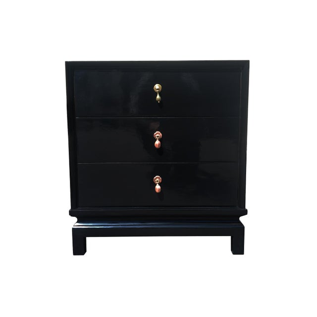 Black An American of Martinsville Black Lacquer Nightstand / Dresser For Sale - Image 8 of 8