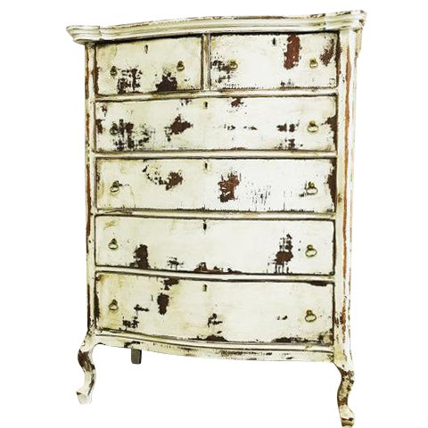 Shabby Chic Dresser in Distressed White - Image 1 of 6