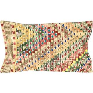 """Nalbandian - Turkish Cicim Lumbar Pillow - 12"""" X 23"""" For Sale"""