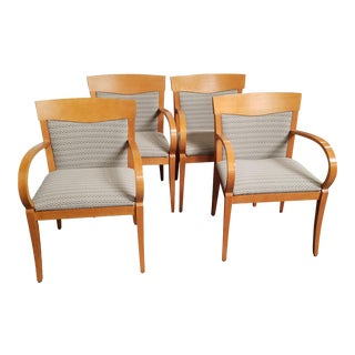 Jasper Group Beech and Textile Chairs - Set of 4 For Sale