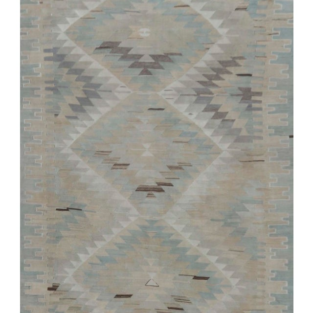 "Traditional Vintage Turkish Handwoven Kilim, 5'8"" X 10'7"" For Sale - Image 3 of 5"