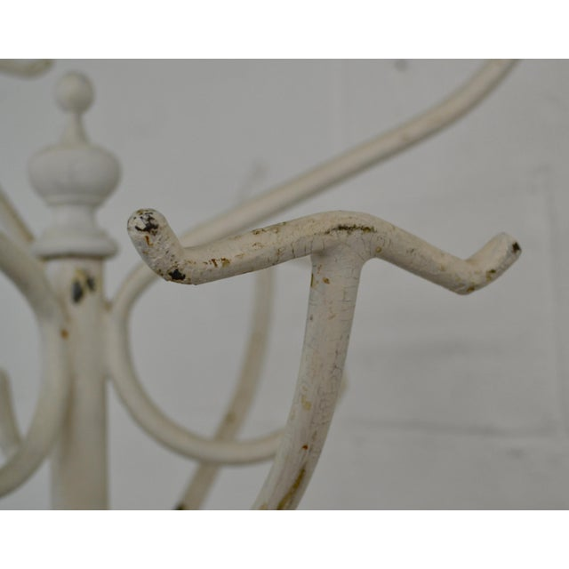 Vintage Cast and Wrought Iron Hall Tree For Sale In Washington DC - Image 6 of 9