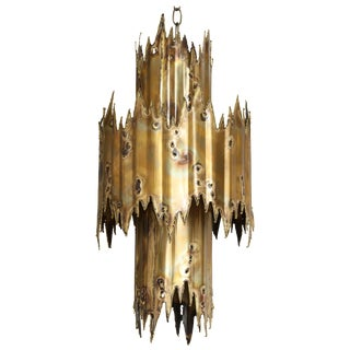1970s Tom Greene Brutalist Chandelier For Sale
