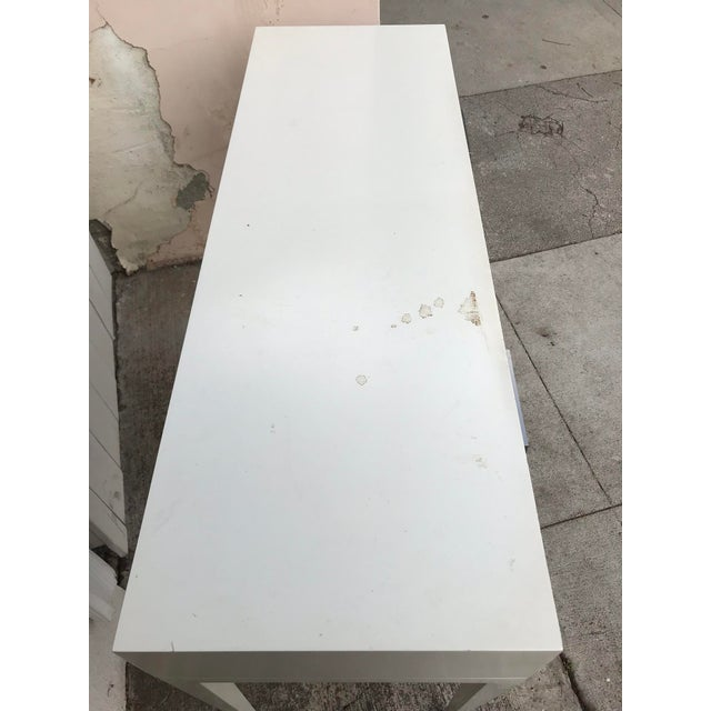 """""""Kelly"""" White Lacquered Console For Sale - Image 4 of 5"""