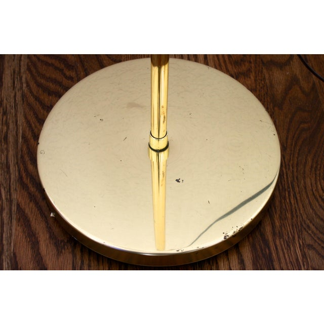 1970s Industrial Brass Pharmacy Floor Lamp For Sale - Image 9 of 10