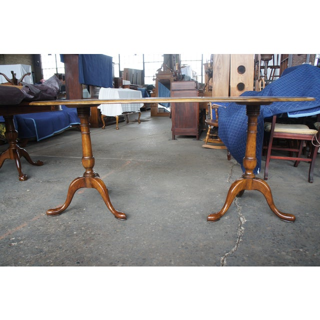 Traditional Baker Furniture Walnut Kidney Bean Writing Desk/Console Table For Sale - Image 9 of 13