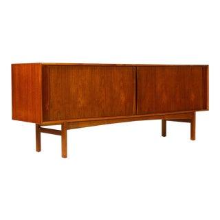 1960s Danish Modern Bernhard Pedersen + Son Teak Credenza For Sale
